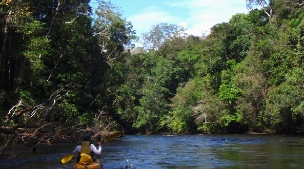 Aventuras pela Amazônia de caiaque. foto: http://aventurasamazonia.blogspot.com.br/