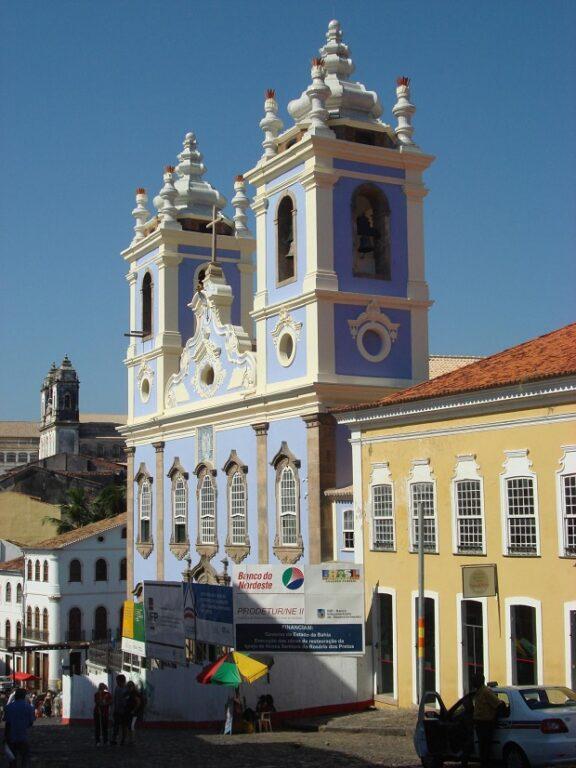 Torres da Igreja do Rosário dos Pretos, no Pelourinho