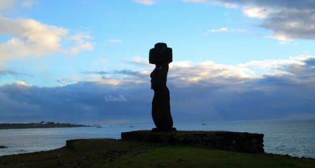 Moai na ilha Páscoa, Chile