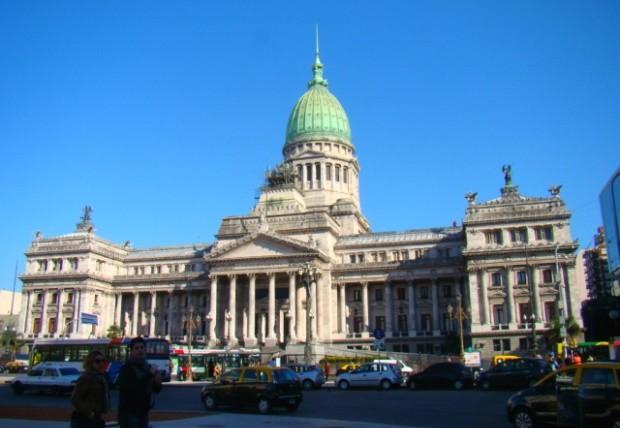 Congresso argentino, onde começa nosso roteiro a pé por Buenos Aires