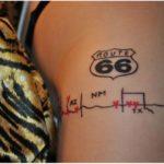 Modelo de tatuagem da Rota 66, para mulheres radicais e ousadas