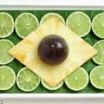 Limões, folhas de bananeiras, abacaxi e jabuticaba. É o Brasil