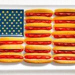 A bandeira dos EUA tem hot dogs