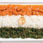 Muito curry na flâmula da Índia