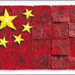 A bandeira chinesa tem carambolas nas estrelas