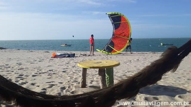 O kitesurf é muito popular em Barra Grande