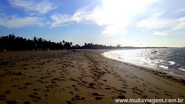 O sol era de lascar e o vento muito forte: um paraíso para os kite-surfistas
