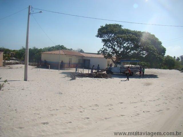 Uma escolinha em uma vila no interior do Maranhão