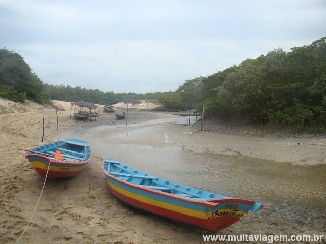 Quando eu saí para o passeio, a maré estava como na primeira foto; quando voltei, estava assim...