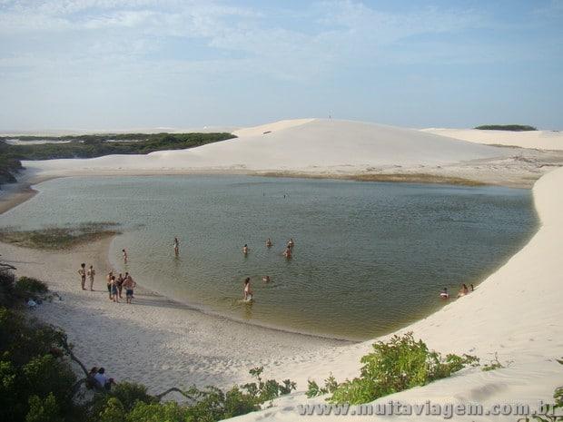 A esverdeada Lagoa do Peixe, que tinha água