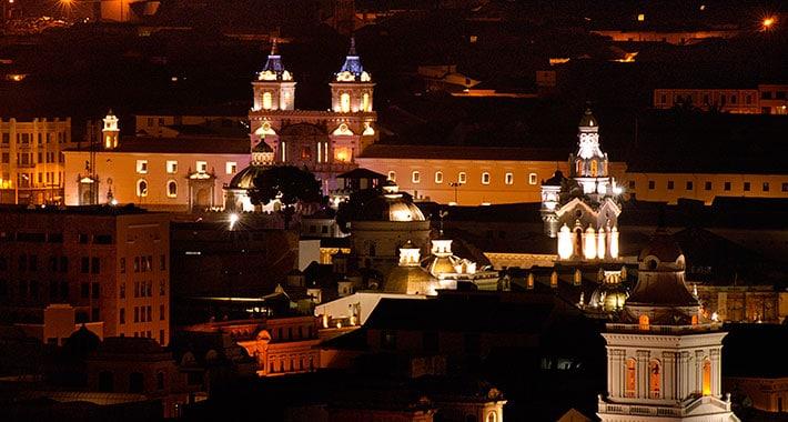 O centro histórico de Quito é Patrimônio Mundial da Humanidade
