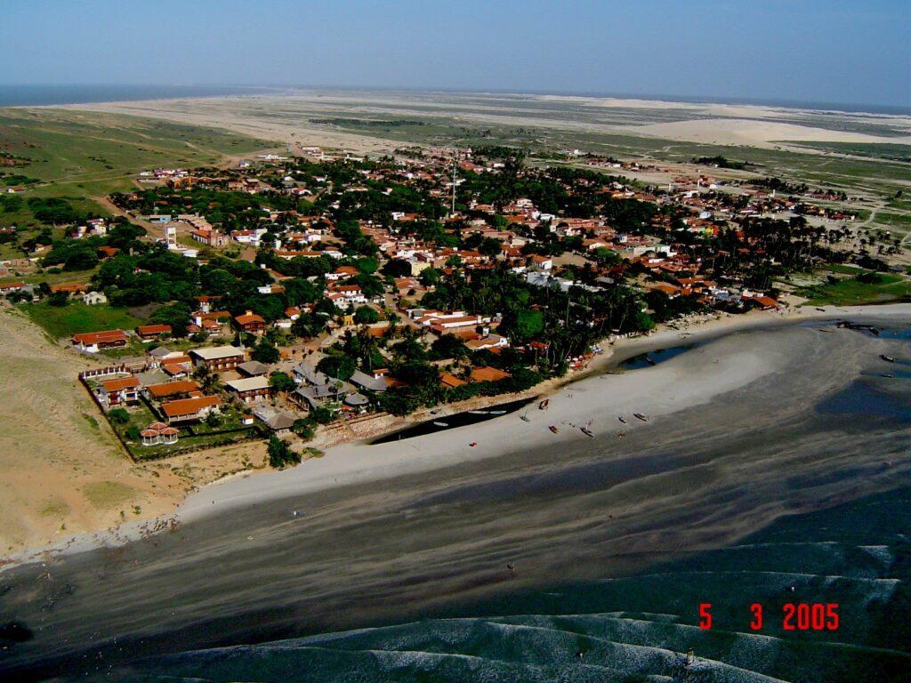 A isolada vila de Jeri vista do alto - foto: Fábio do Serrote