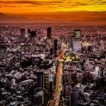 5 fotos incríveis de pôr do sol em mega-cidades