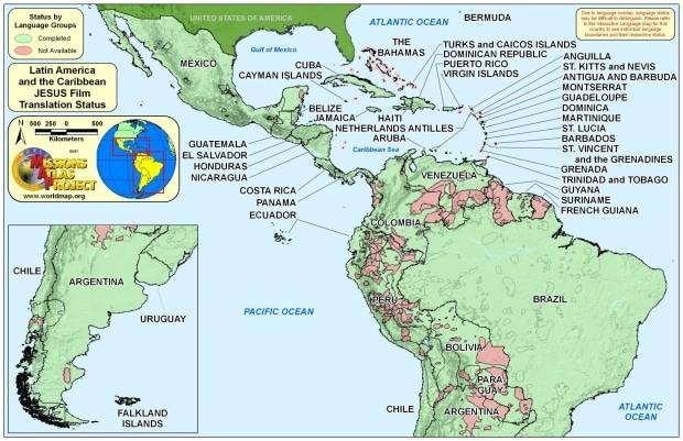onde fica caribe mapa mundi