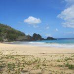Uma praia paradisíaca.