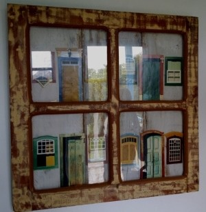 Um quadro típico do artesanato de Tiradentes