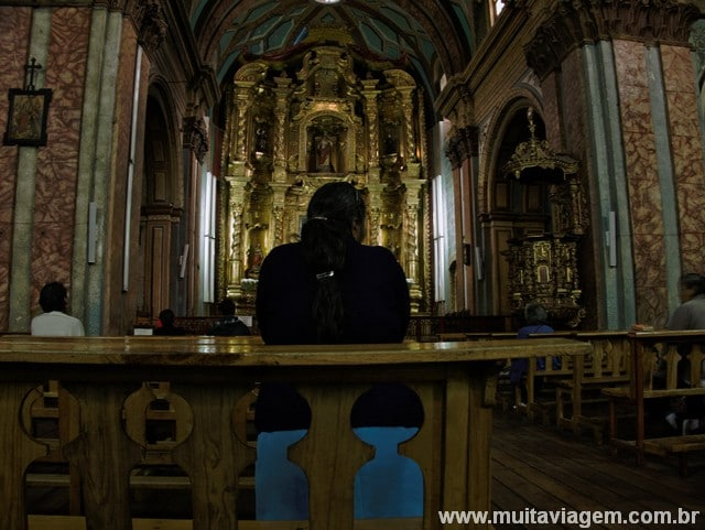 La Iglesia de El Sagrario, uma capela da Catedral de Quito, na Calle de 7 Cruces