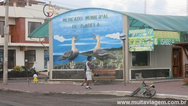 Mercado Municipal de Isabela, minha ilha preferida em Galápagos
