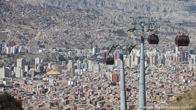 La Paz vista do alto do teleférico