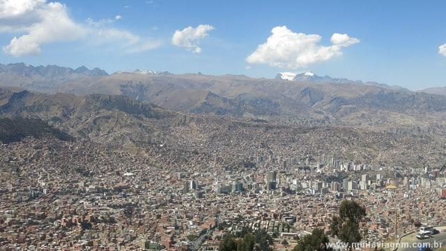 O teleférico de La Paz é baratinho e muito legal