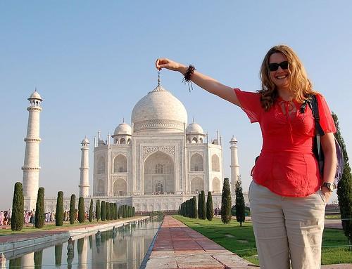 O impressionante Taj Mahal na ponta dos dedos