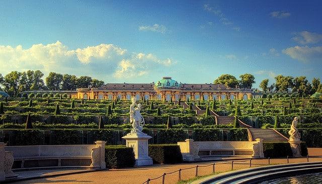Sanssouci-castelo-potsdam-bonito