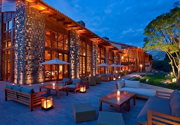 O hotel de luxo em Cusco Tambo del Inka