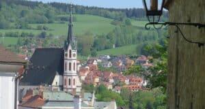 Igreja de St. Vitus, na medieval Cesky Krumlov