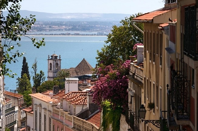 Rio Tejo, em Lisboa - Portugal