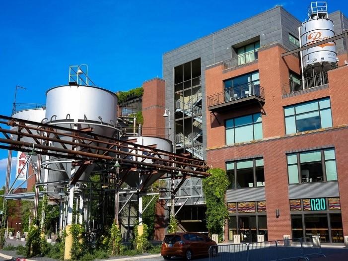 A antiga cervejaria virou um dos pontos mais legais de San Antonio.