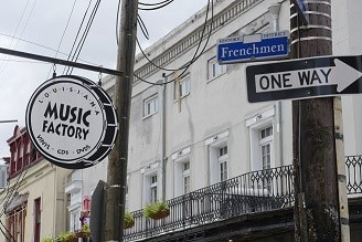 Loja de discos na Frenchmen St