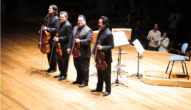 Quarteto de Cordas. na Sala São Paulo