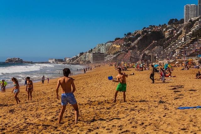 Praia no Chile, Reñaca - Valparaíso | Foto: Maciej