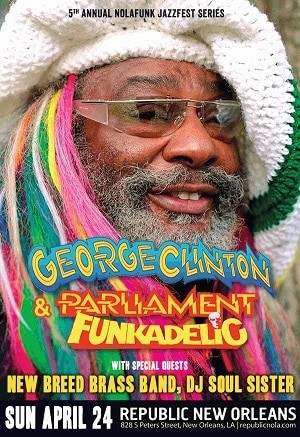 George Clinton e Funkadelic em show after dark em New Orleans