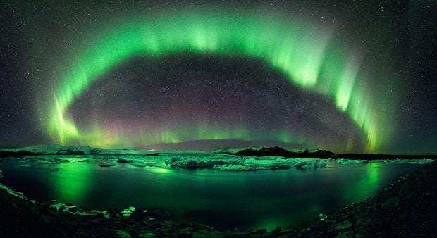 Aurora boreal na Islândia - foto: Stephane Vetter