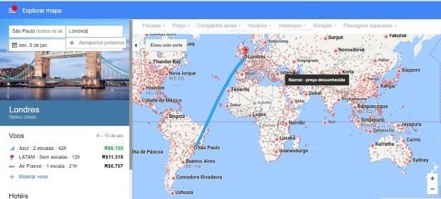 O Google ajuda a encontrar e rastrear voos baratos