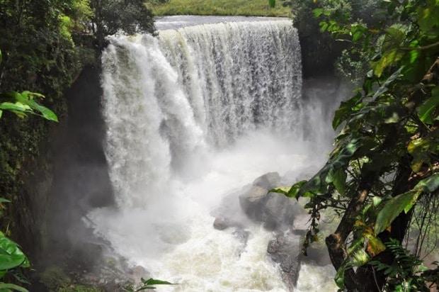 A Cachoeira da Fumaça foi um dos lugares visitados no primeiro dia do roteiro