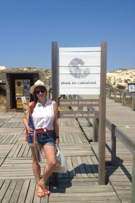 Carvalhal: a primeira praia nesse roteiro em Portugal