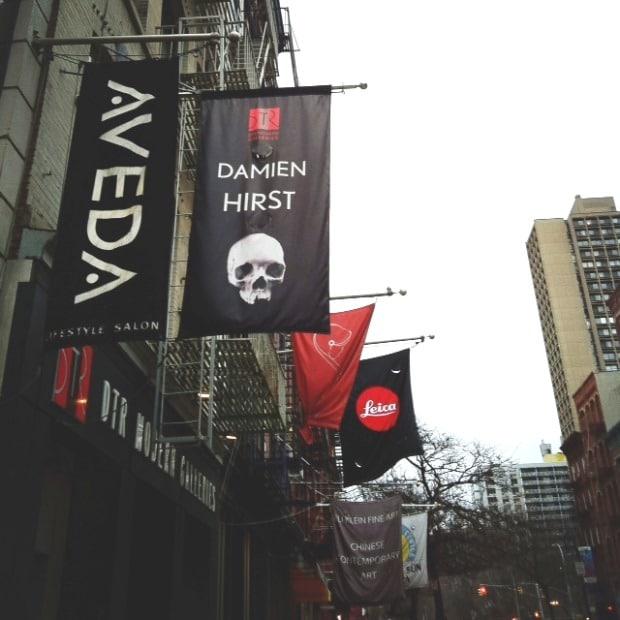 Lojas e galerias na West Broadway