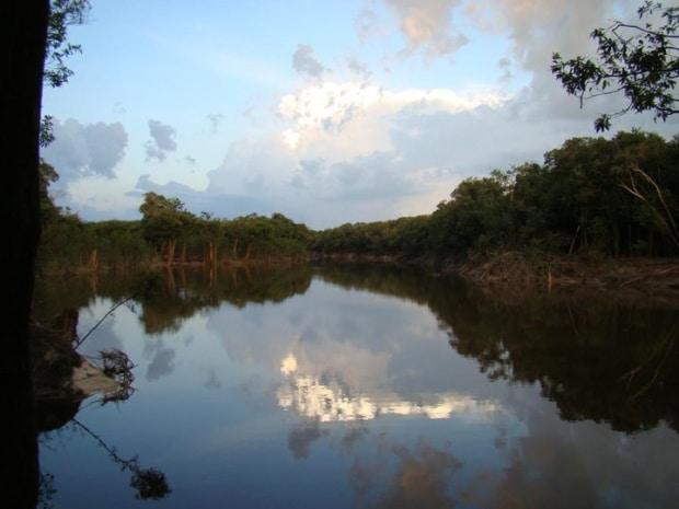 O rio tupana no final da tarde