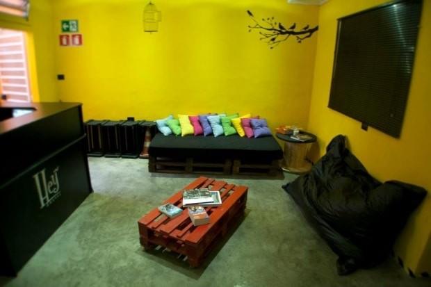 O Hey Hostel tem a decoração hippie-chique típica da Vila Madalena