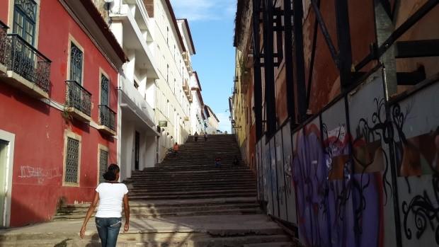 A escadaria do reggae: por causa do estilo, realmente popular, São Luís é chamada de a Jamaica Brasileira; (mas vi pouca maconha)