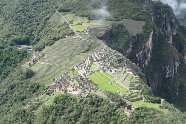 Machu Picchu vista do alto do Wayna Picchu