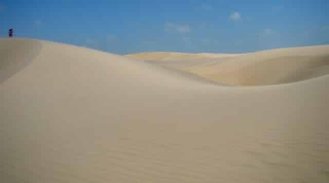 As dunas dos Pequenos Lençóis Maranhenses em Vassouras