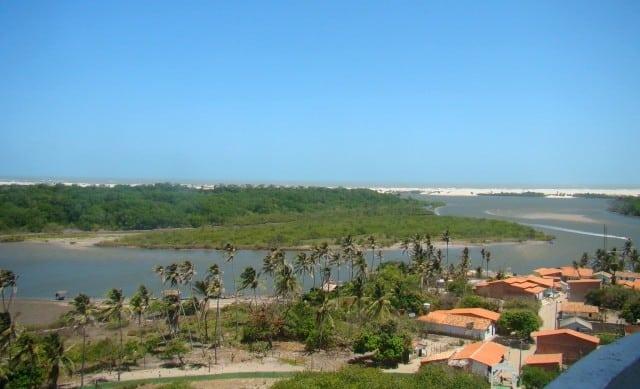 A vista do Farol de Mandacaru