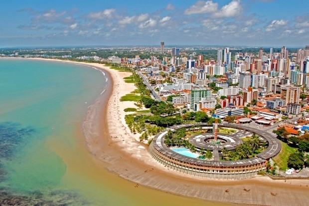 Vista aérea da praia de Tambaú em João Pessoa - foto: divulgação