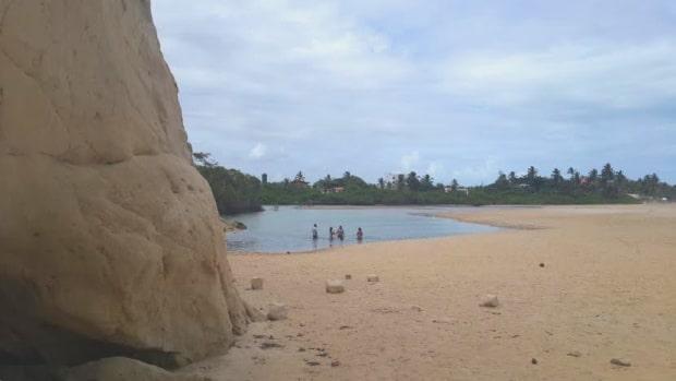 Foto do Maceió de Tabatinga, em Conde, no litoral sul da Paraíba