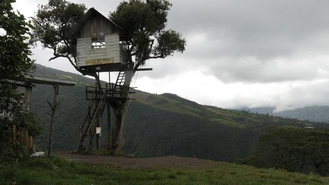 A Casa na Árvore a 3 km do vulcão Tungurahua