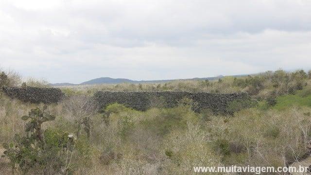 O Muro de Lágrimas, no final da trilha grátis em Galápagos