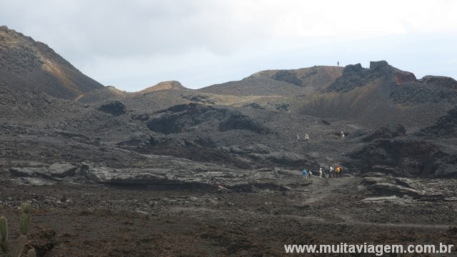 Foto do campo de lava do vulcão Chico